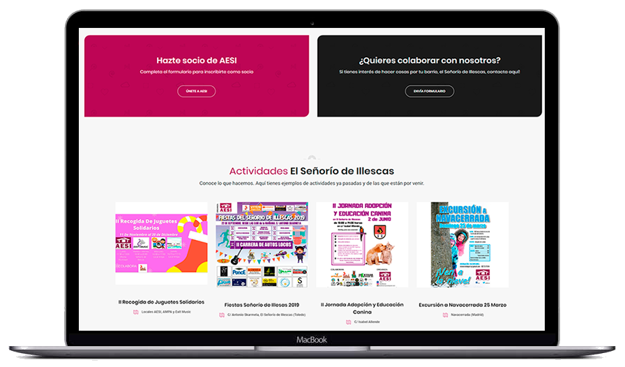 diseño web aesi illescas - webstalia marketing - diseño web en toledo - posicionamiento seo